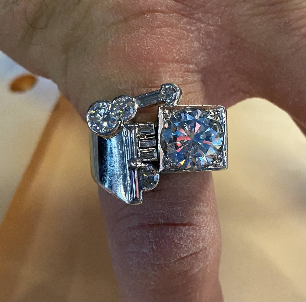 The Elvis Presley stage ring once owned by Gordie Brown, now in the possession of Las Vegas jew ...