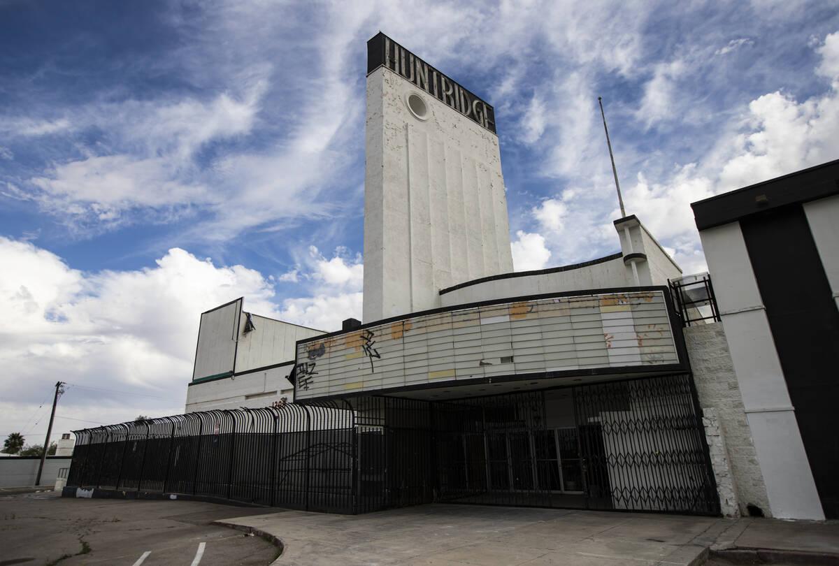 The Huntridge Theater is seen on Thursday, April 1, 2021. (Chase Stevens/Las Vegas Review-Journ ...
