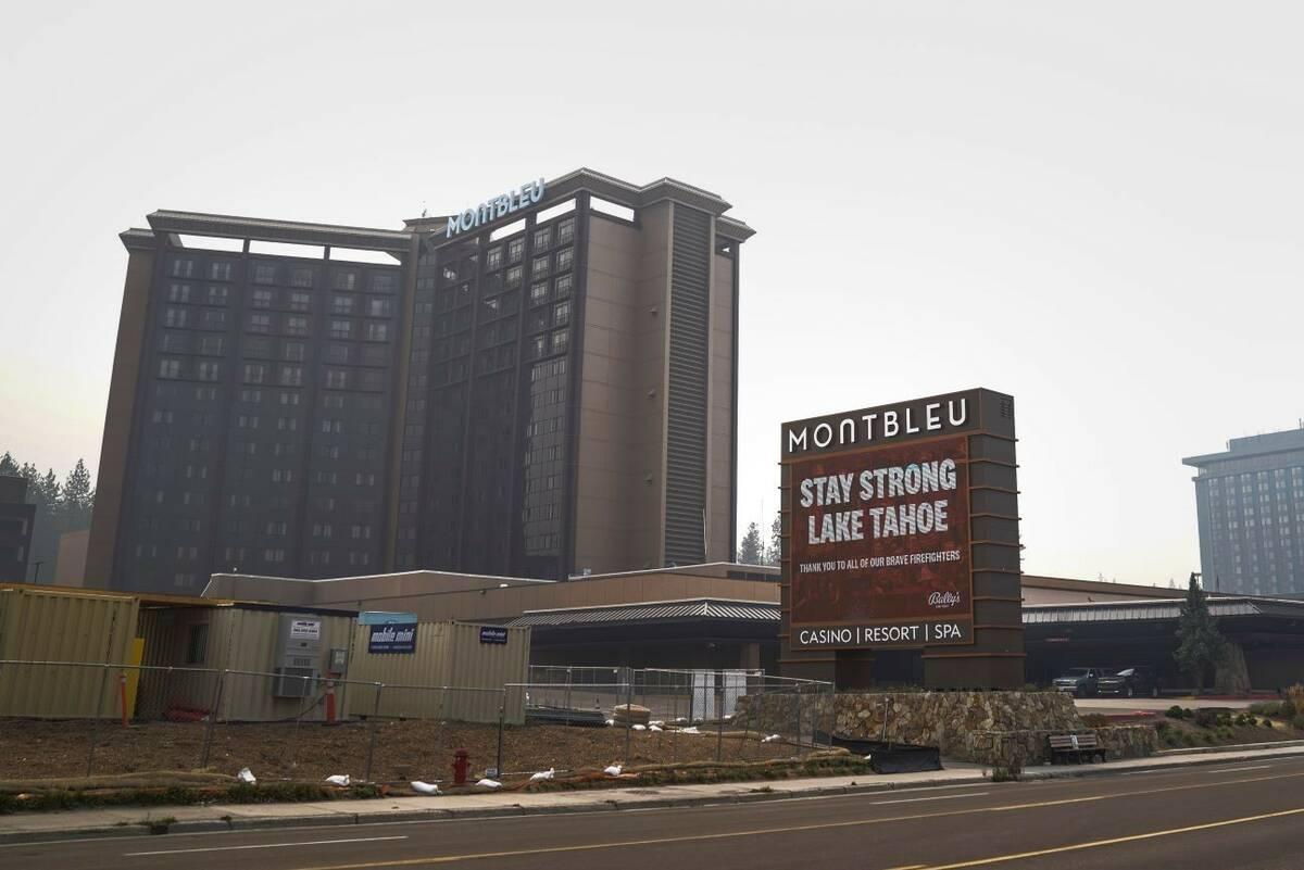 MontBleu Resort Casino & Spa, left, is shown in Stateline on Thursday, Sept. 2, 2021. (AP Photo ...
