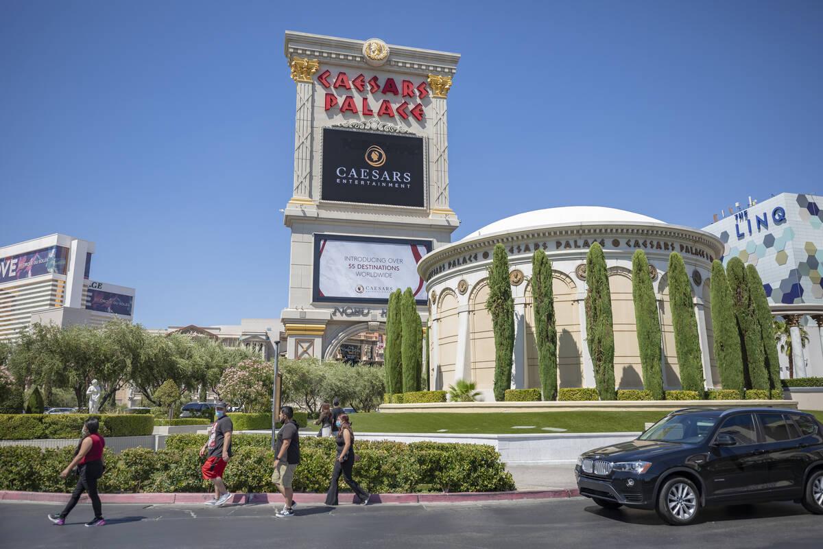 Caesars Palace is seen on the Las Vegas Strip in August 2020. (Las Vegas Review-Journal)