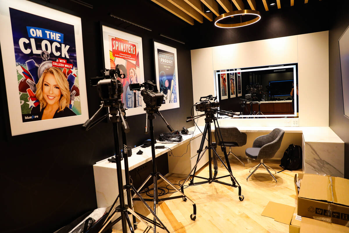The green room at Blue Wire Studios at Wynn Las Vegas, Thursday, Sept. 9, 2021. (Rachel Aston/L ...