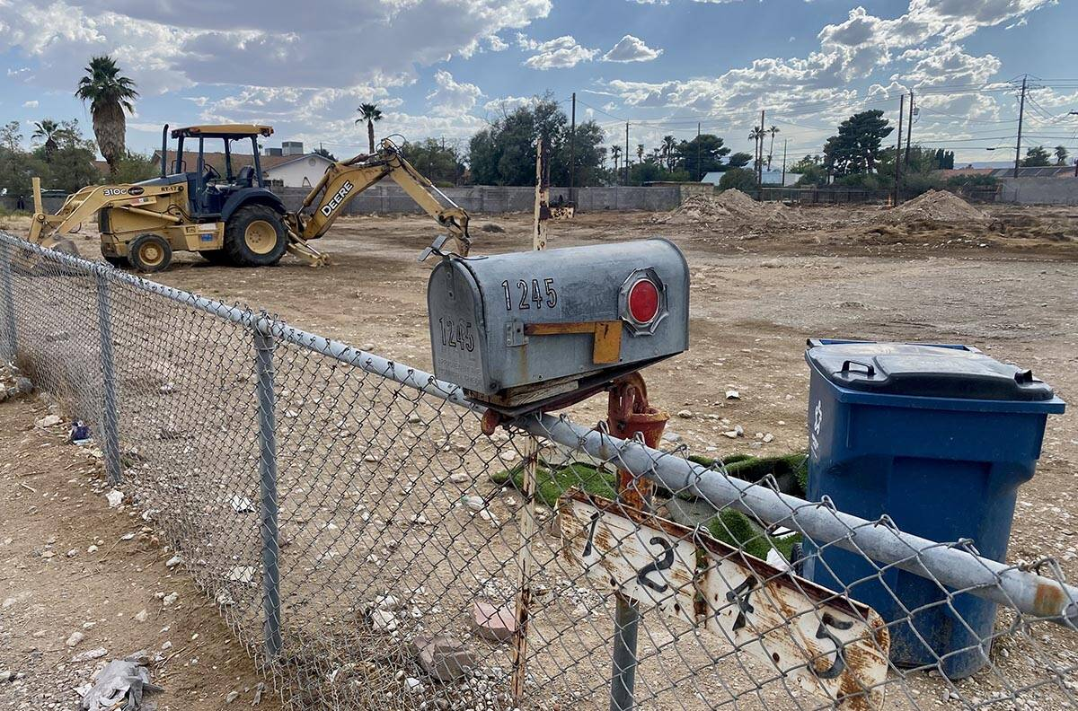 A construction site at 1245 Lindell Road where three construction workers were outside of a tru ...