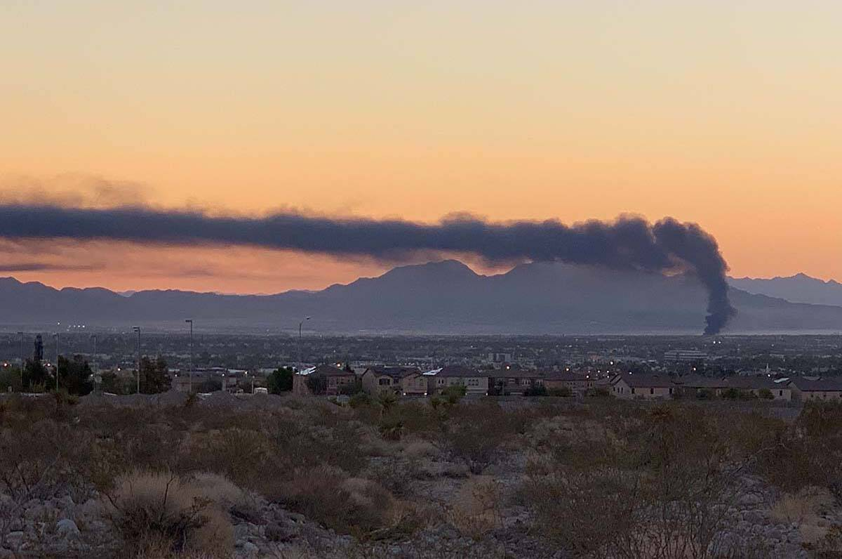 North Las Vegas Fire Department responded to an early morning fire on Monday. (David Guzman / L ...