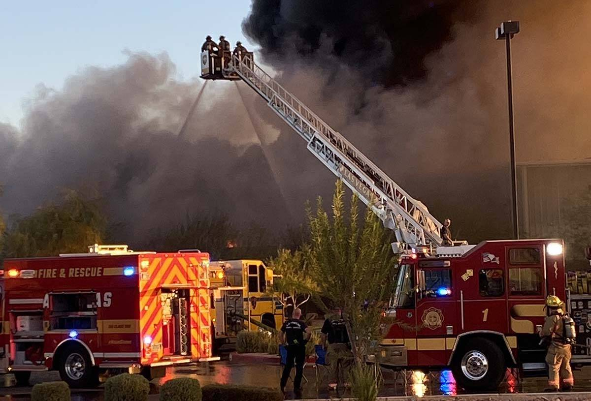 North Las Vegas Fire Department responded to an early morning fire on Monday. (Glenn Puit / Las ...