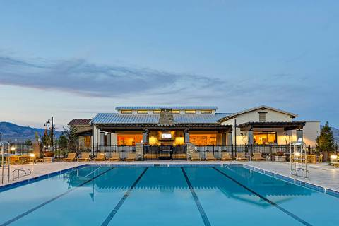 Skye Canyon Park features Skye Center, the community's club house. The community will hold it ...