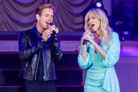 Joey McIntyre and Debbie Gibson are shown during their co-headlining performance at The Venetia ...