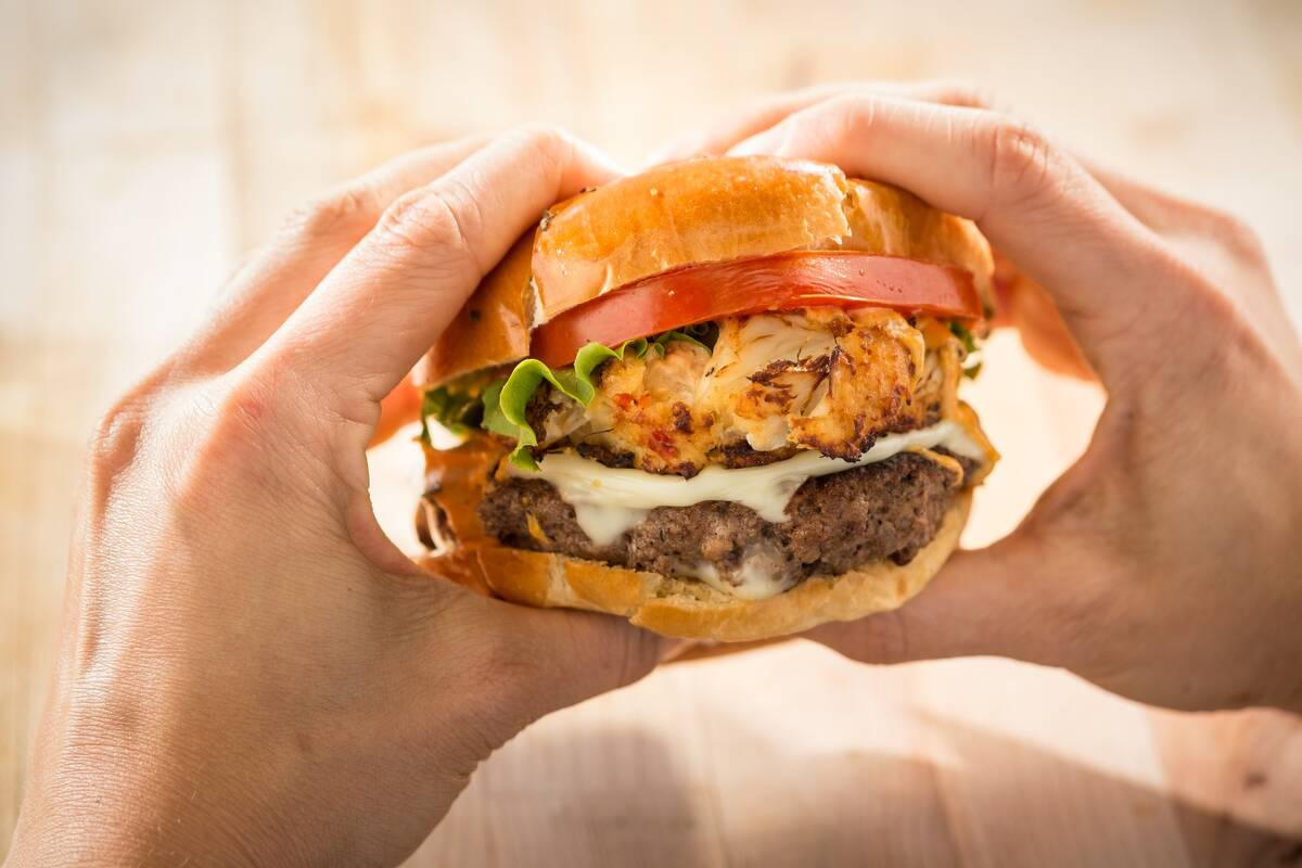 The Ultimate Tailgate Burger from Chickie's & Pete's. (Chickie's & Pete's)