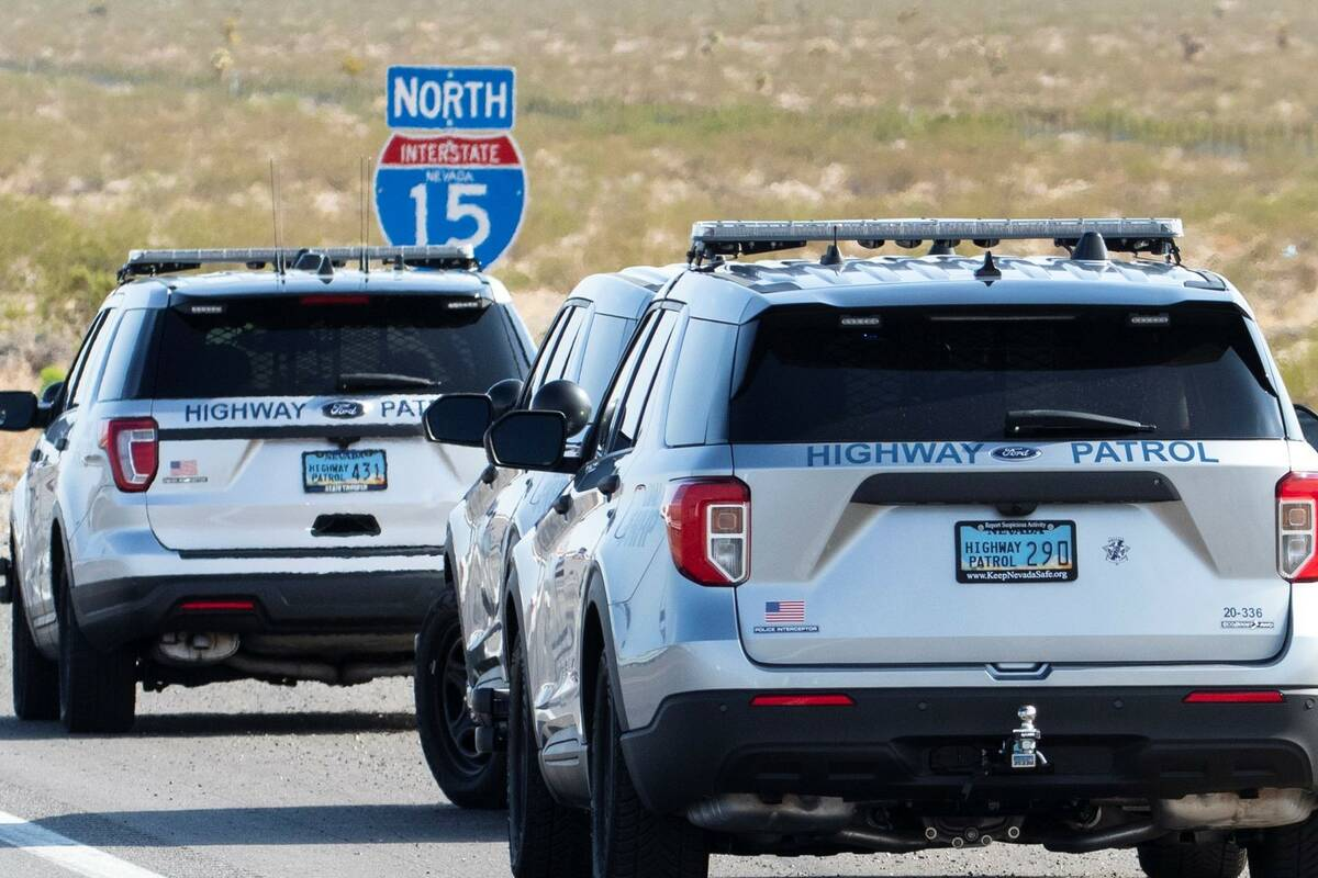 Nevada Highway Patrol is investigating a fatal crash on Interstate 15 near Jean, on Monday, Aug ...