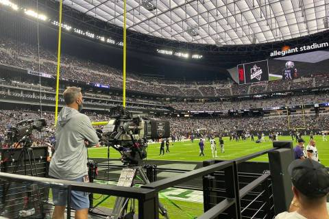 The Raiders-Raven game at Allegiant Stadium was the the most-watched Week 1 Monday Night Footba ...