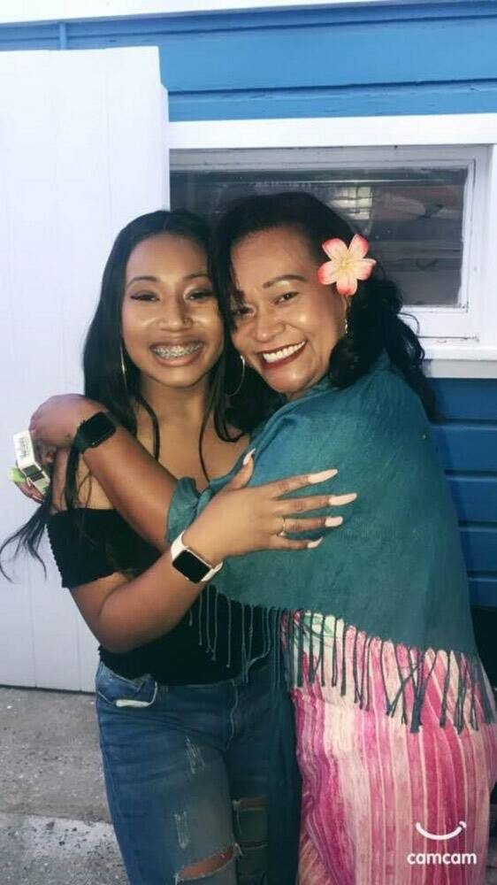 Destiny Jackson, left, poses with her mother in an undated picture. Jackson's family said the 2 ...