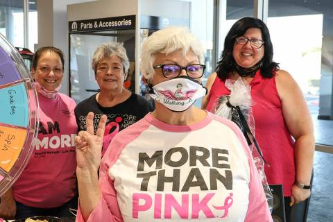 Chapman Chrysler Jeep in Henderson hosted the Susan G. Komen Nevada More Than Pink kickoff part ...
