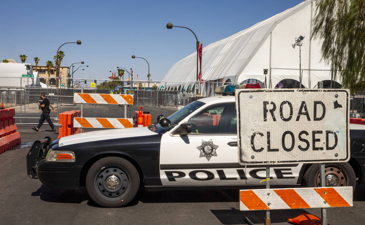 Road closure for Life is Beautiful along South 8th Street at East Carson Avenue on Thursday, Se ...