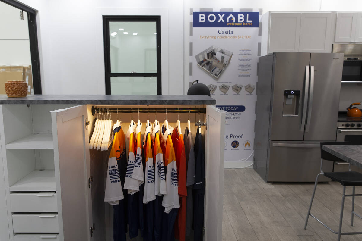 A Boxabl Casita includes a closet, living room, bedroom, bathroom and fully-equipped kitchen in ...