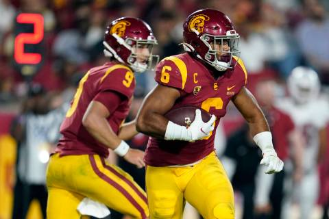 Southern California running back Vavae Malepeai runs against Stanford during the second half of ...