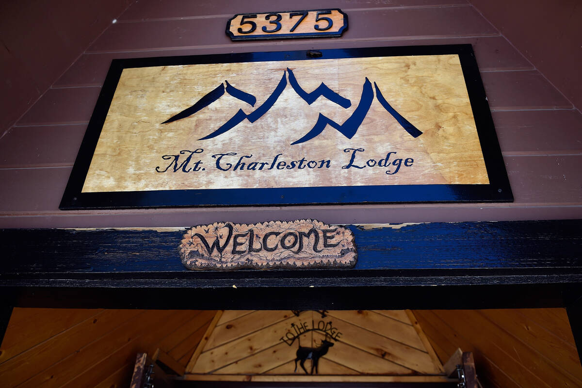 The entrance to the Mount Charleston Lodge is seen Friday, July 15, 2016. (David Becker/Las Veg ...