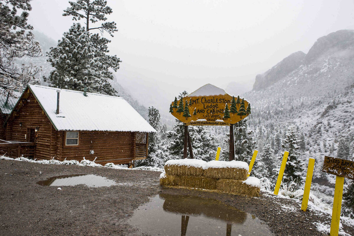 A view from outside of the Mount Charleston Lodge on Tuesday, May 1, 2018. (Review-Journal file)
