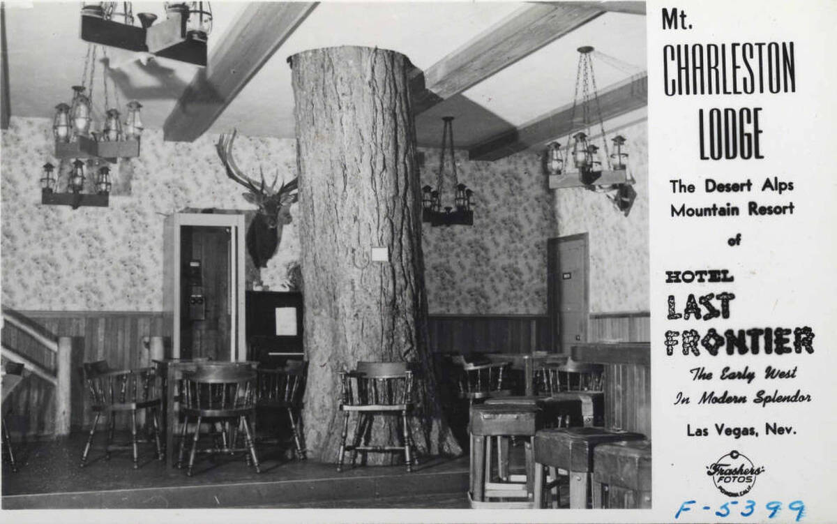 An interior view of the Mount Charleston Lodge in The Desert Alps Mountain Resort. (UNLV Librar ...