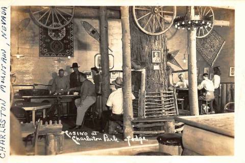 This undated postcard shows the casino at Charleston Park Lodge. (Vintage Las Vegas)