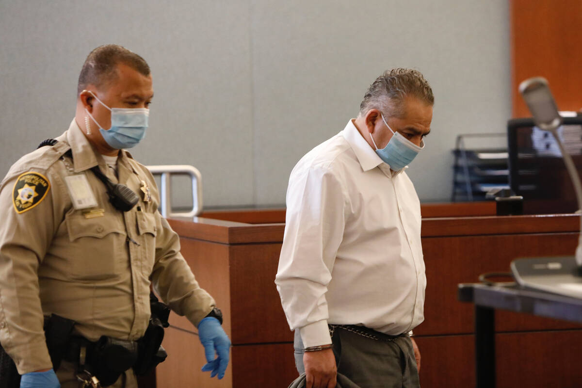 Omar Rueda-Denvers appears in court for his verdict in his retrial , Friday, Sept. 17, 2021, at ...