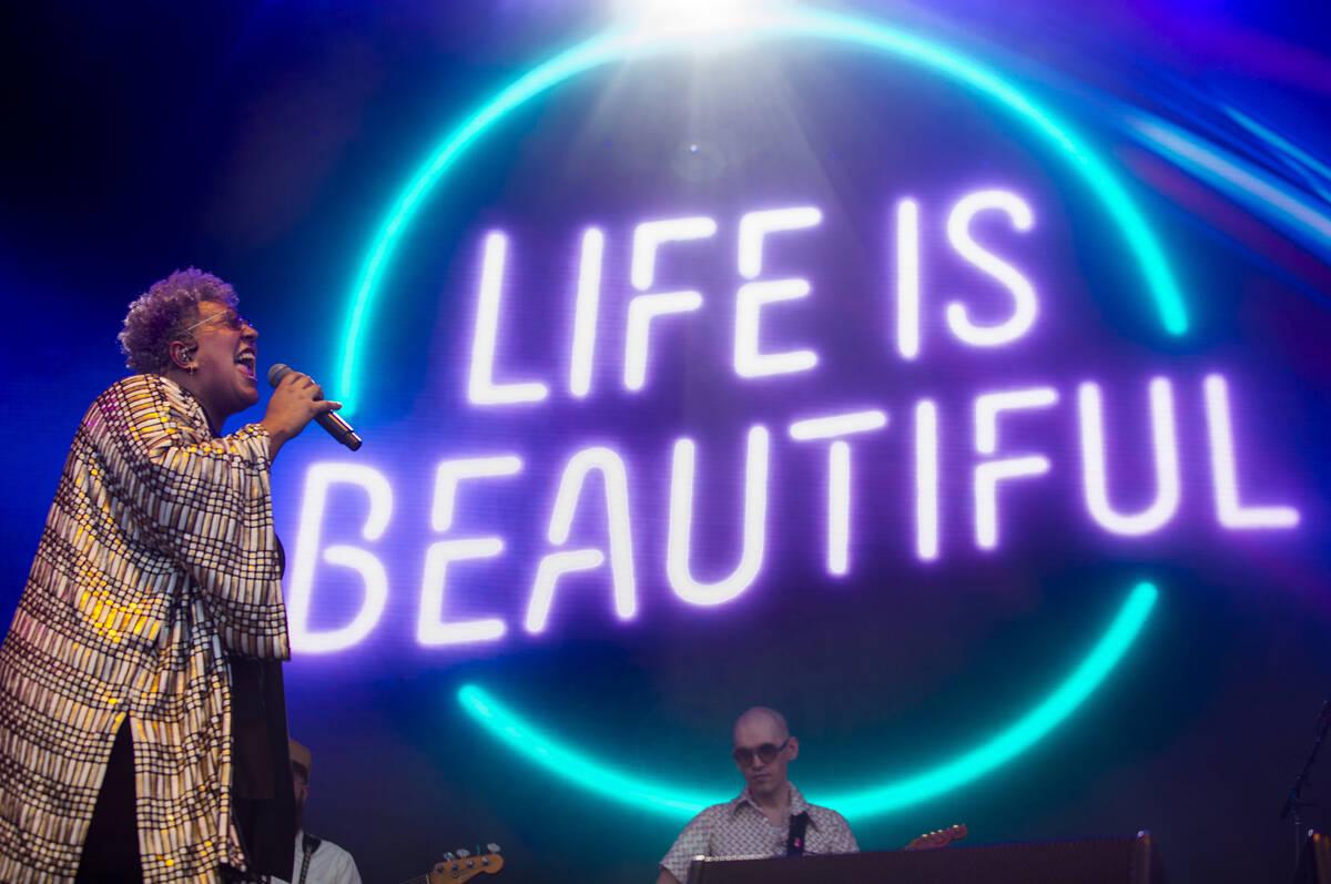 Brittany Howard tampil di Downtown Stage pada hari pertama Life is Beautiful pada hari Jumat, Se ...