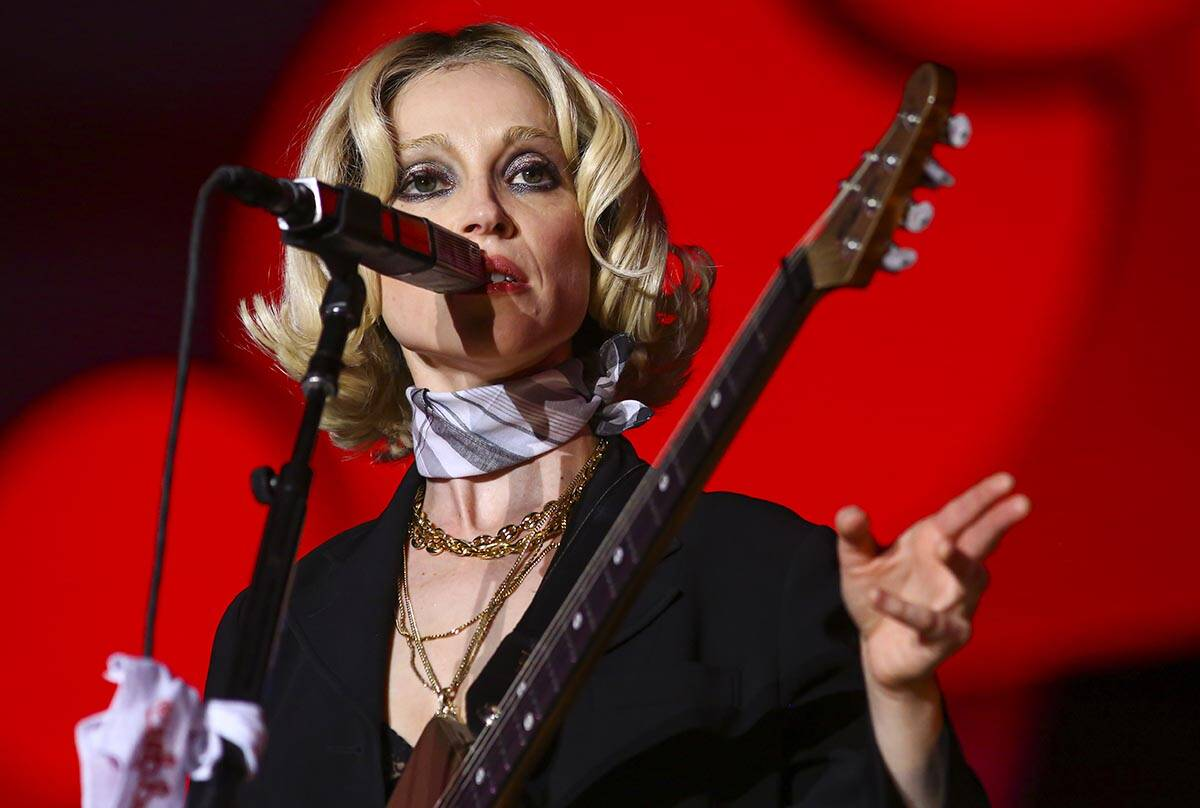 St. Vincent performs astatine  the downtown signifier    during the last  time  of the Life is Beautiful festiv ...