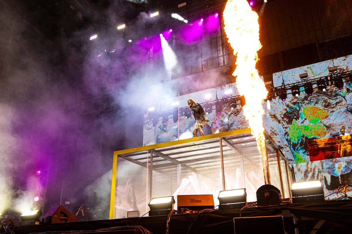 Young Thug performs astatine  the downtown signifier    during the last  time  of the Life is Beautiful festiva ...