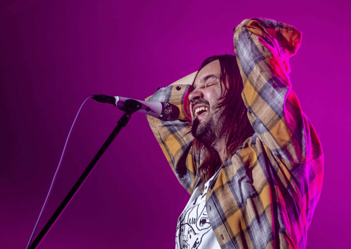 Tame Impala lead singer Kevin Parker performs on the Downtown Stage during day one of Life is B ...