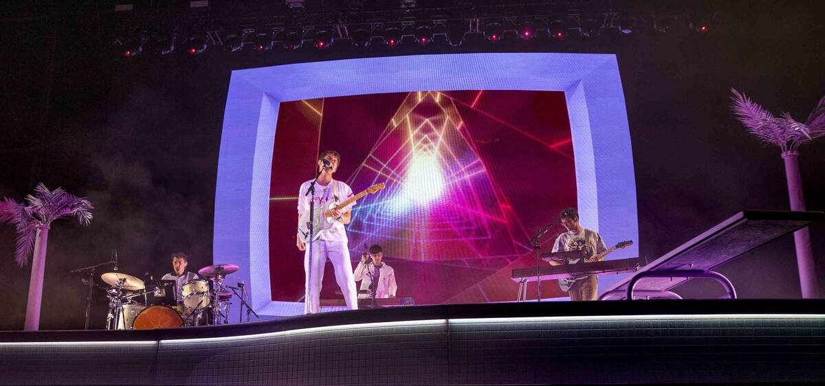 The Glass Animals perform on the Downtown Stage during day one of Life is Beautiful on Friday, ...