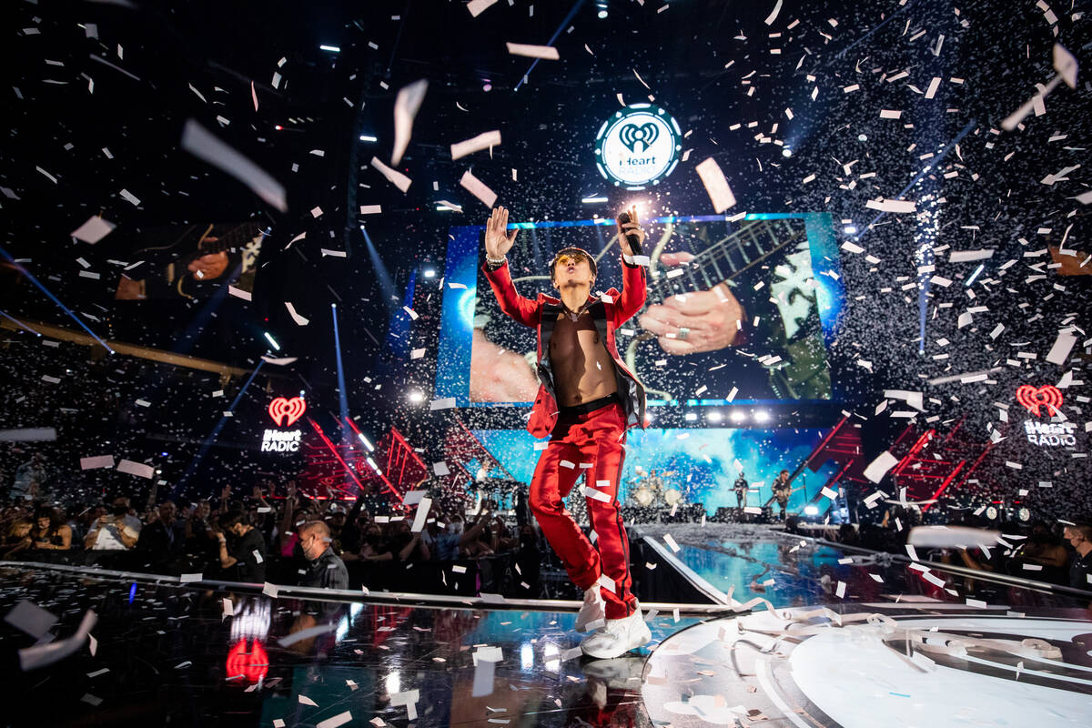Arnel Pineda of Journey performs during the 2021 iHeartRadio Music Festival at T-Mobile Arena o ...
