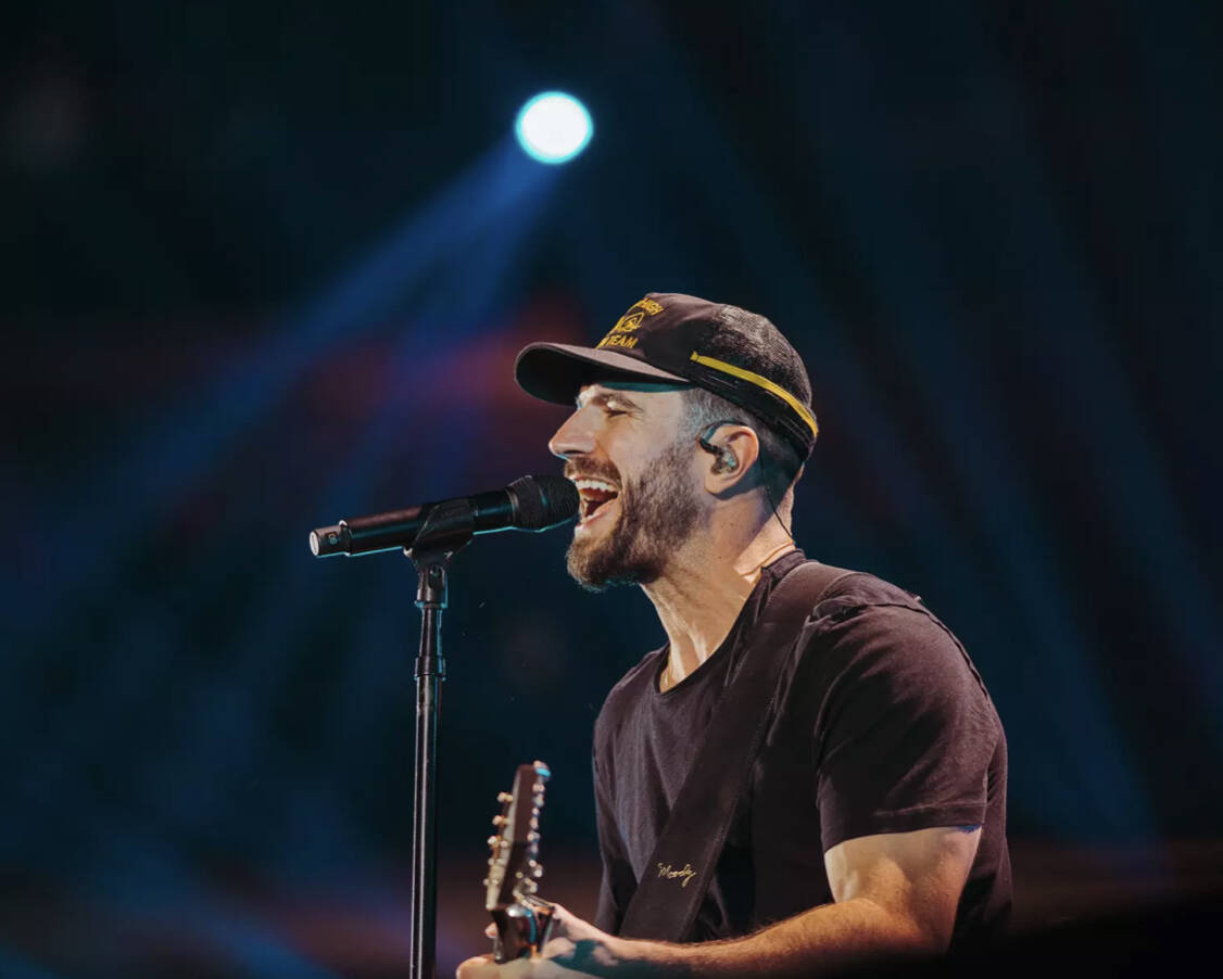 Sam Hunt performs during the 2021 iHeartRadio Music Festival at T-Mobile Arena on Saturday, Sep ...