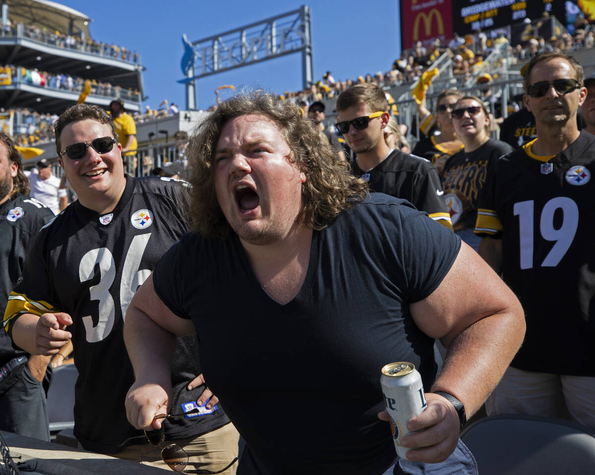 Steelers fans at Heinz Field during an NFL football game against the Raiders on Sunday, Sept. 1 ...