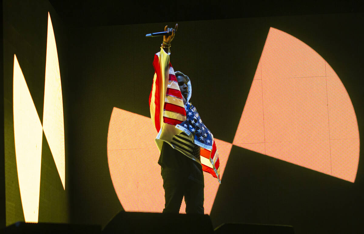 ASAP Rocky performs at the Bacardi stage during the final day of the Life is Beautiful festival ...
