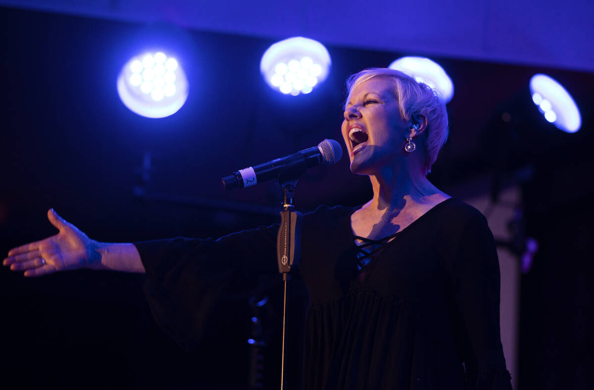 Robin Vincent performs at the Italian American Social Club on Wednesday, July 28, 2021, in Las ...