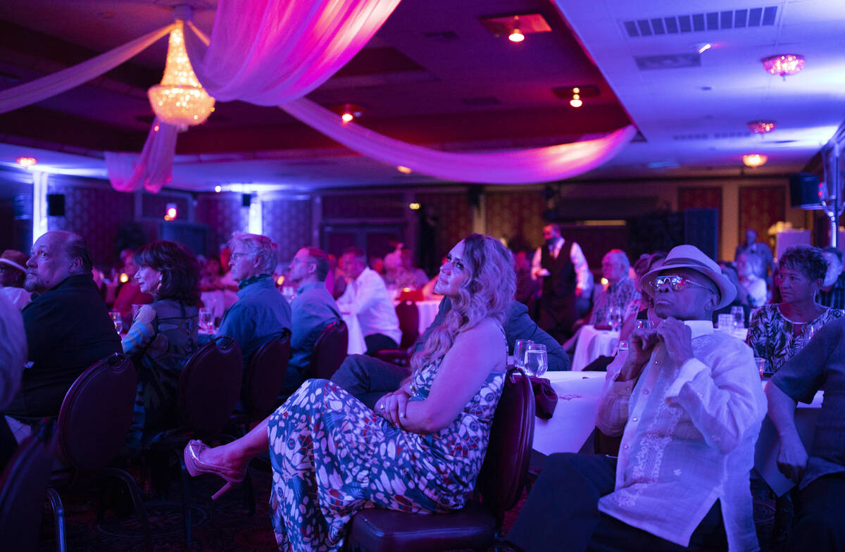 """Guests enjoy a show headlined by Michelle Johnson, known as """"Las Vegas' First Lady of Ja ..."""