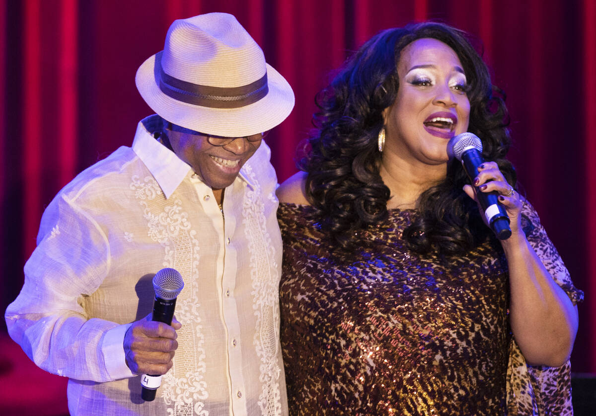 """Michelle Johnson, right, known as """"Las Vegas' First Lady of Jazz,"""" and Sonny Turn ..."""
