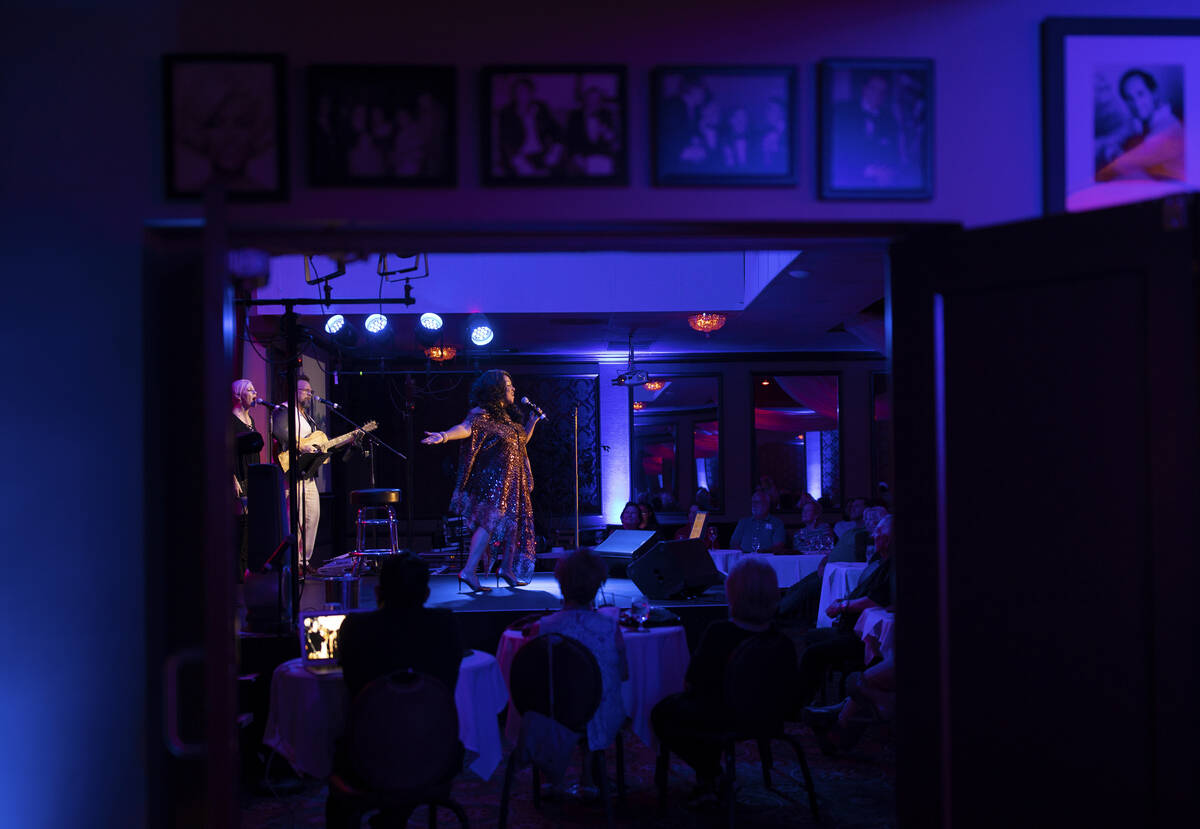 """Michelle Johnson, known as """"Las Vegas' First Lady of Jazz,"""" performs at the Itali ..."""