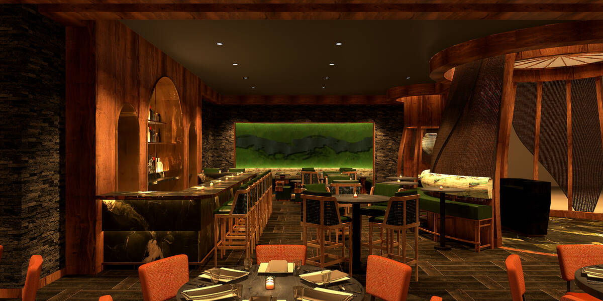 A rendering shows the dining area at the planned Nobu at Harrah's New Orleans. (Courtesy/Caesar ...