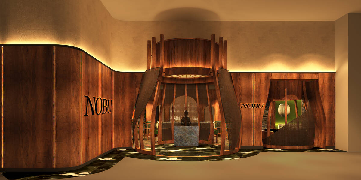 A rendering shows the entry to the planned Nobu at Harrah's New Orleans. (Courtesy/Caesars Ente ...