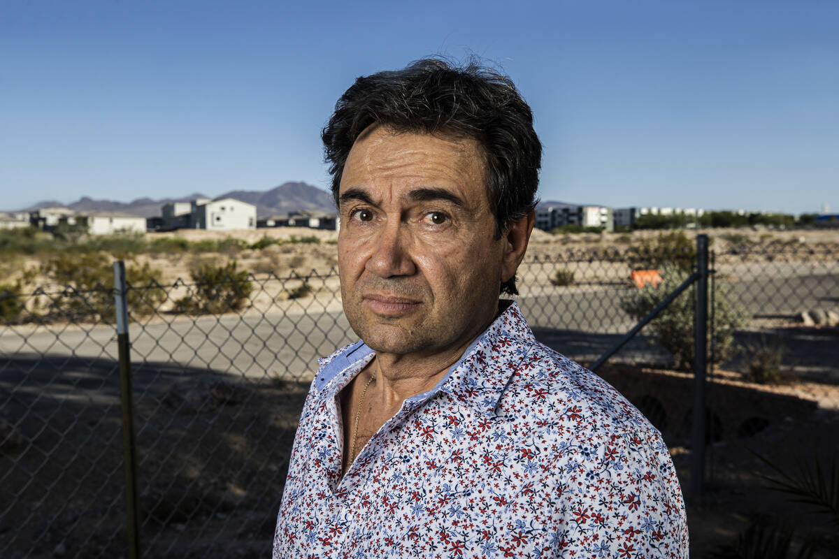 Biagio Guerra at near his home in Las Vegas on Tuesday, Sept. 21, 2021. Guerra is one of a grou ...
