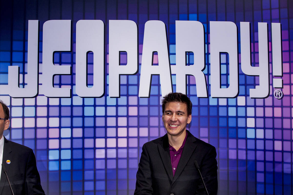 """Former """"Jeopardy!"""" champion and Las Vegas resident James Holzhauer is shown on Tuesday, Oct. 15 ..."""