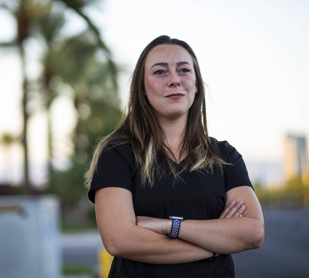 Liz Groesbeck, a third-year student in the Kirk Kerkorian School of Medicine at UNLV, poses for ...