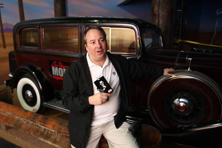 Jay Bloom at the Las Vegas Mob Experience in 2011. (Craig L. Moran/Las Vegas Reivew-Journal)