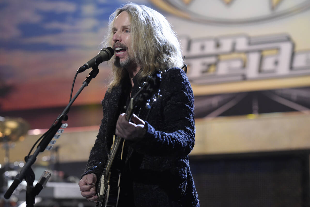 Tommy Shaw of Styx performs with Don Felder Thursday, Jan. 5, 2017, to promote the band's upcom ...