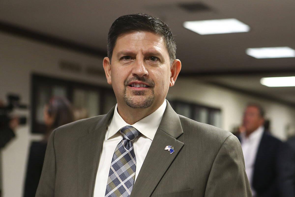 Former state Sen. Mark Manendo, D-Las Vegas, seen in 2017. (Chase Stevens/Las Vegas Review-Journal)