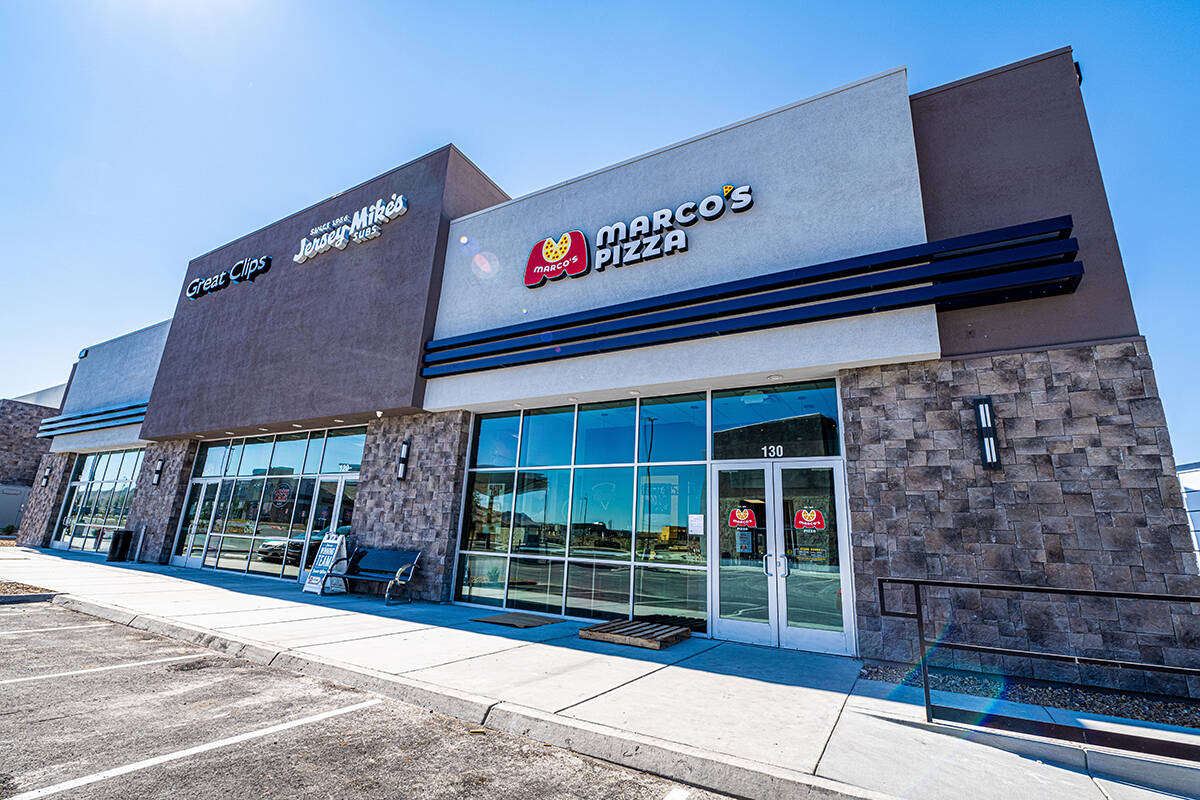Inspirada Marco's Pizza is expected to open in a 1,400-square-foot retail space in the Shops ...