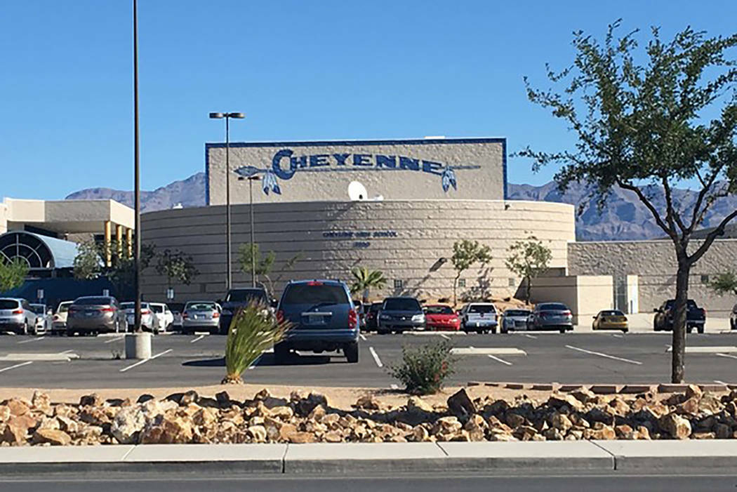 This 2018 file photo shows Cheyenne High School, at 3200 W. Alexander Road, in North Las Vegas. ...