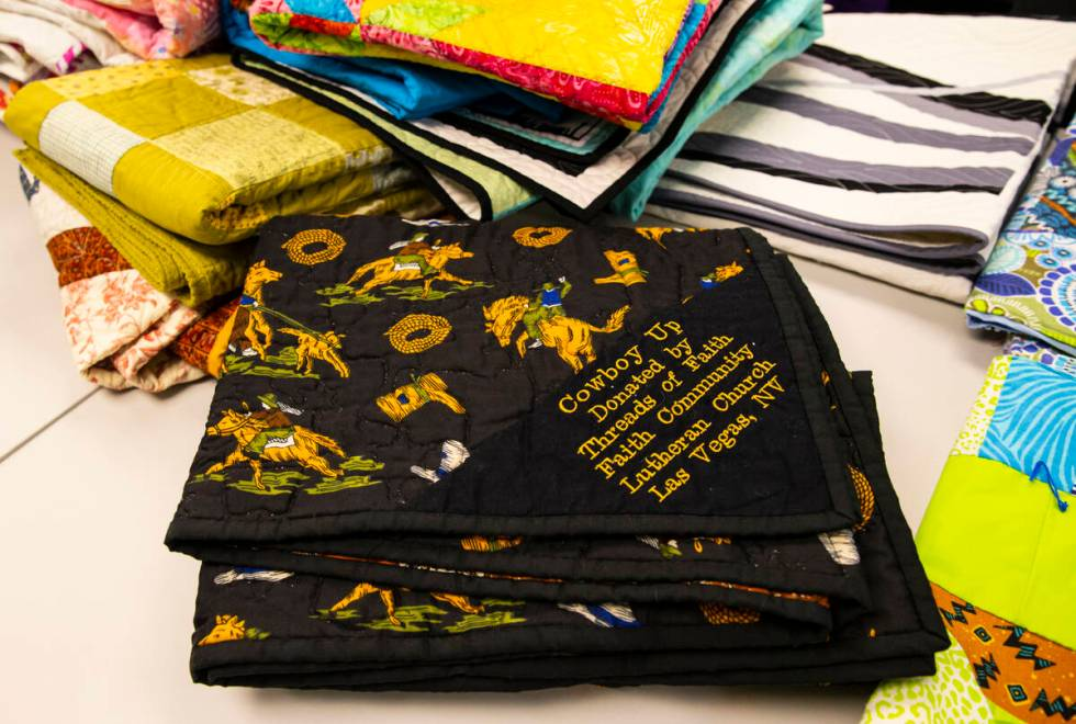 Donated quilts will be given away to survivors, relatives and first responders affected by the ...