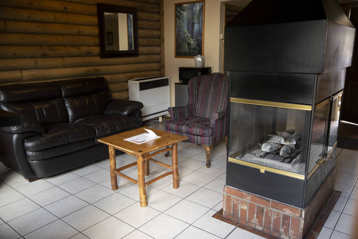 The interior of a cabin at the Mt. Charleston Lodge in Las Vegas, Friday, Sept. 24, 2021. (Erik ...