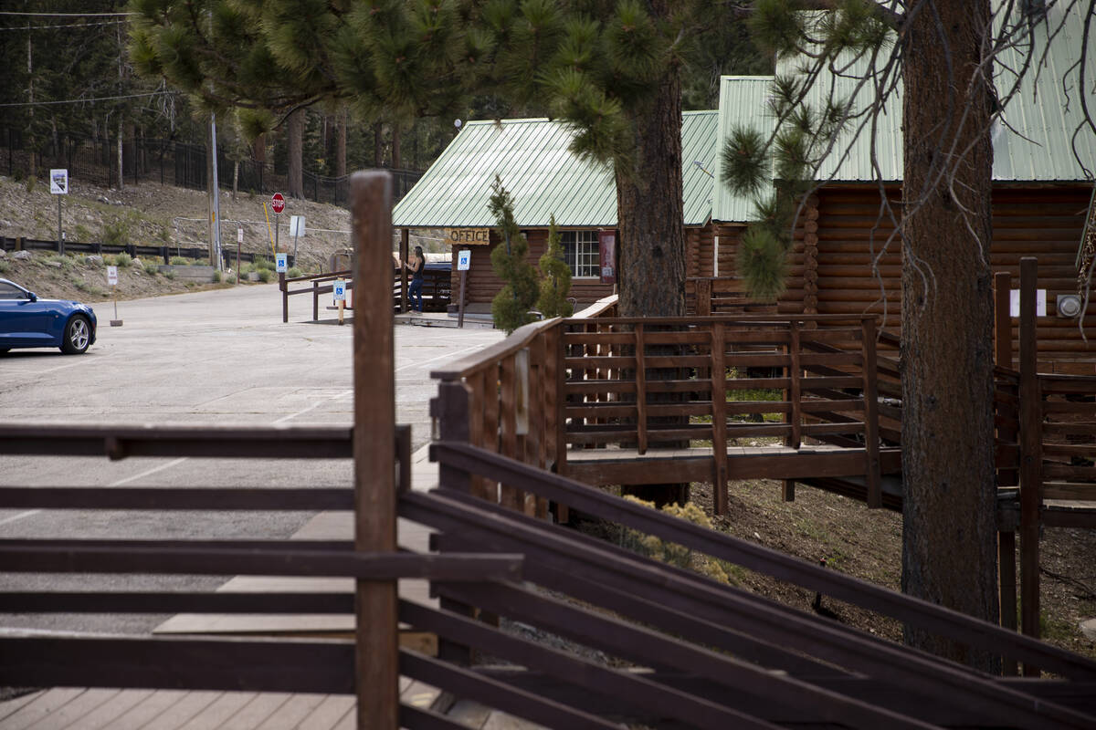 The view from the Mt. Charleston Lodge cabins in Las Vegas, Friday, Sept. 24, 2021. (Erik Verdu ...
