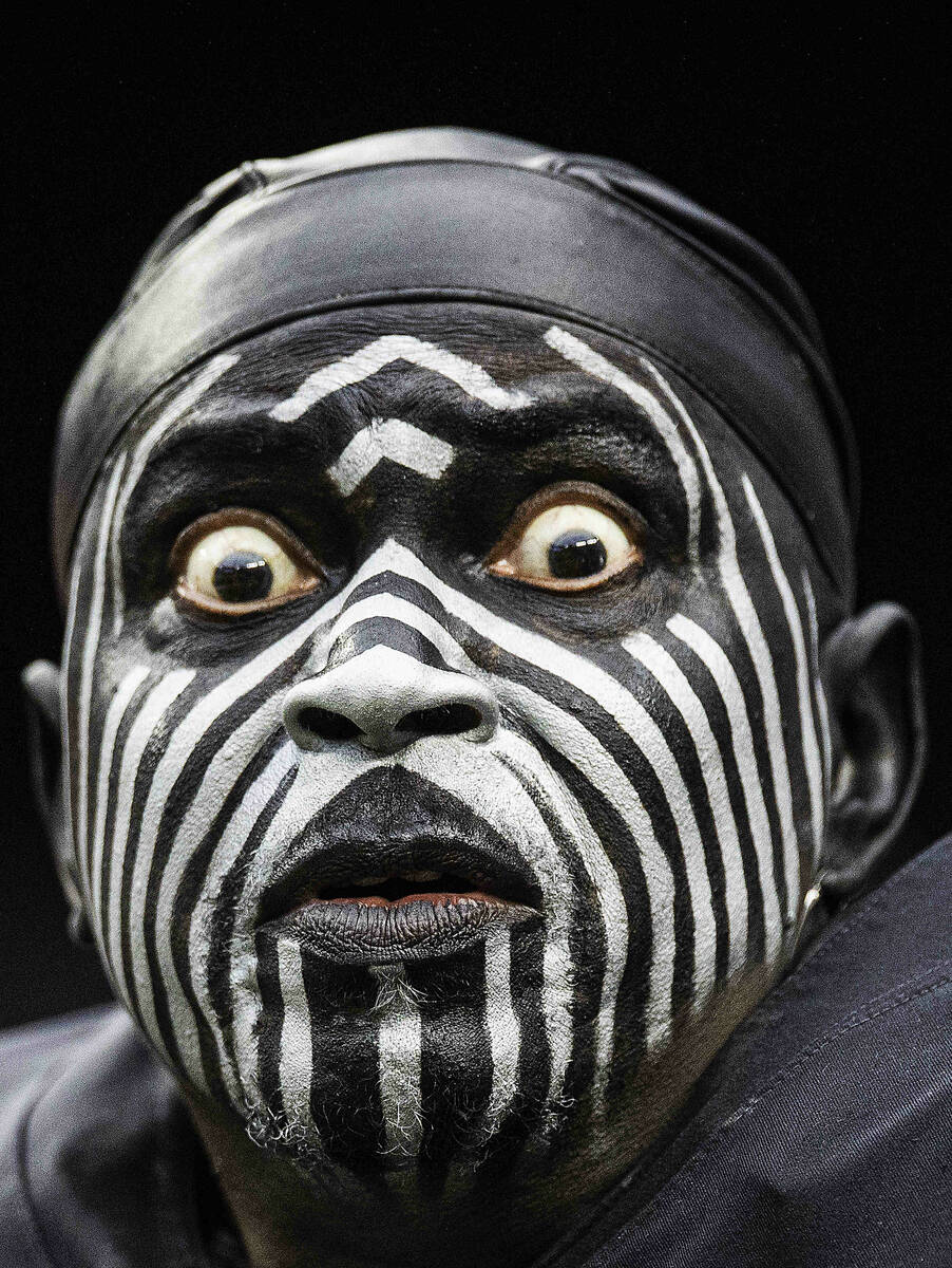 """Raiders super fan """"The Violator"""" during an NFL football game against the Miami Do ..."""